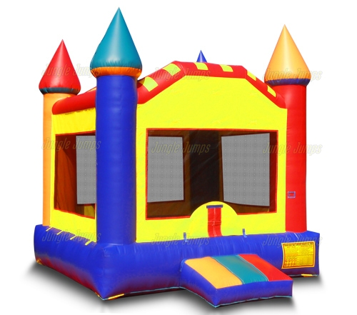 Bounce Houses Colorful Moonwalk Castle Is An Inflatable