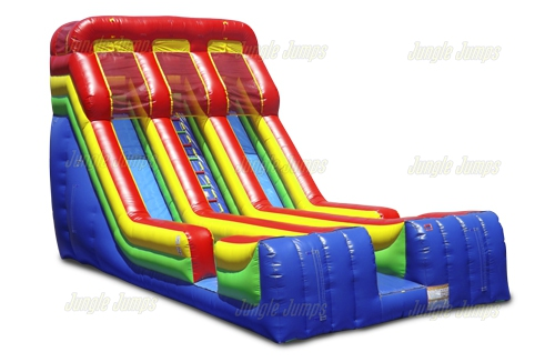 Dual Primary Colors Slide with Splash Pool
