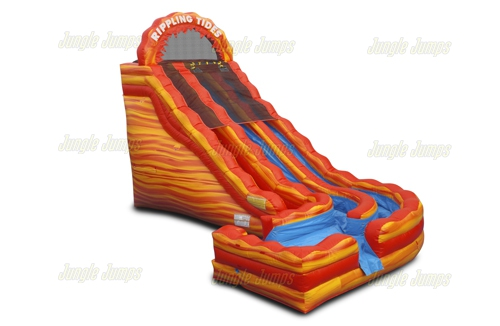 Fire Rippling Tide Slide with Splash Pool