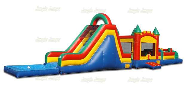 Jump Slide Obstacle with Pool