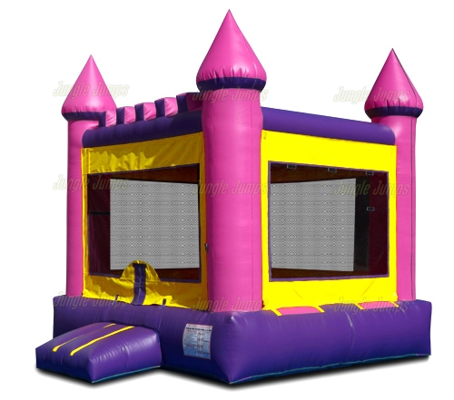 Pink Bounce House with Panel