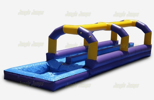 Purple Slip n Slide with Pool