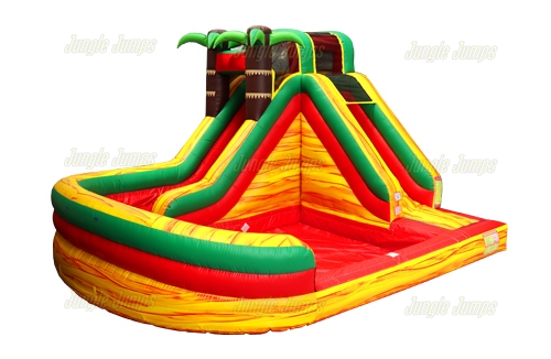 Swirly Tropical Waterslide