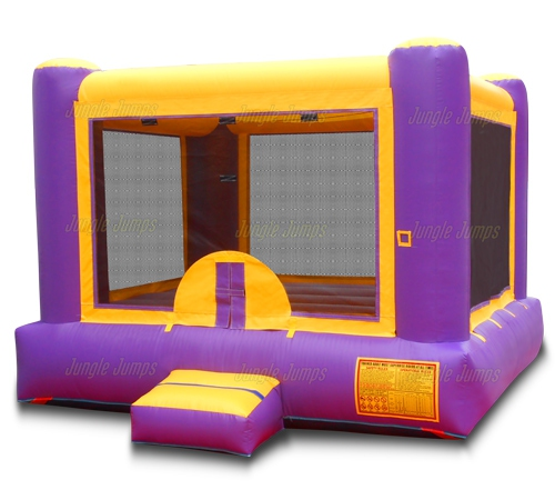 purple u0026 yellow bounce house - Bounce House For Sale