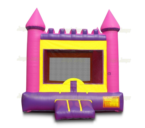 Bounce Houses Pink Castle Moonwalk is an inflatable bounce house ...