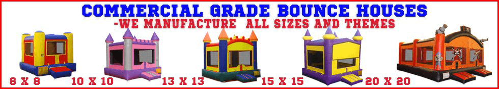 Commercial Grade Bounce Houses in every size and theme