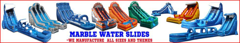 Inflatable Marble and Wave Water Slides in Stock